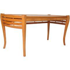 Unusual Art Deco Open Work Desk