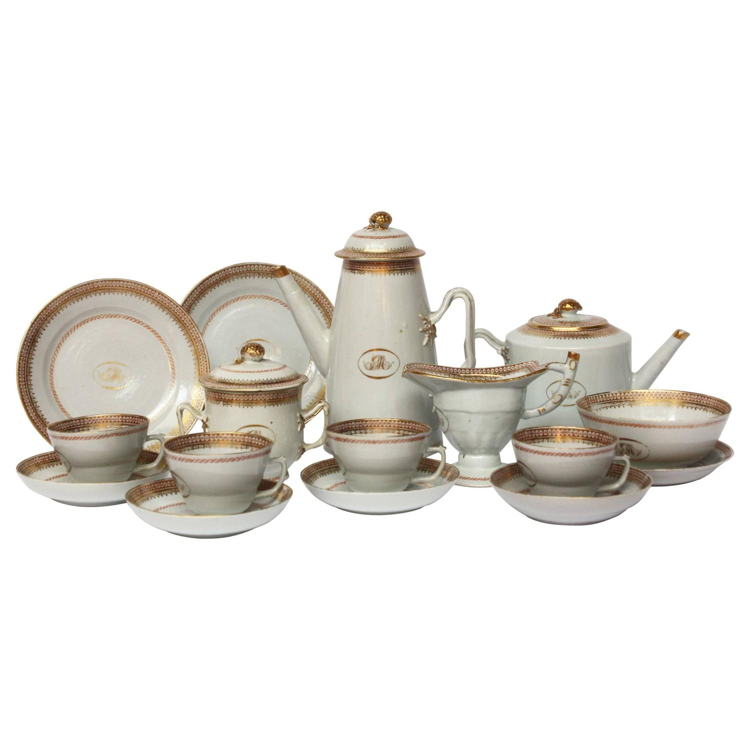 Chinese Export Coffee Tea Set For Sale At 1stdibs