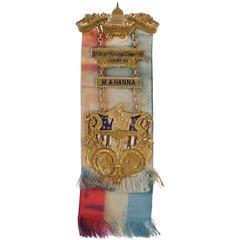 Mark Hanna's 14-Karat Chairman's Badge Republican National Convention