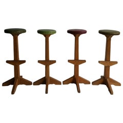 "Set of Four ""Ranch Oak"" Bar / Counter Stools"