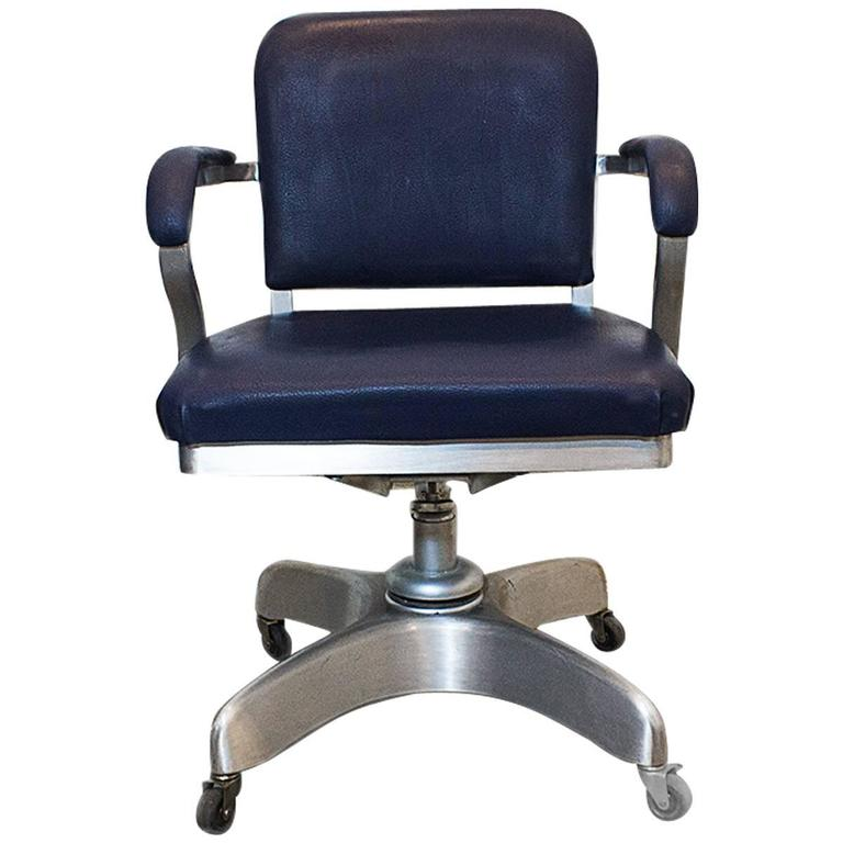 Emeco Solid Back Aluminum Steno Chair Circa 1955 At 1stdibs