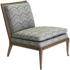 Impeccable Original Upholstered T.H. Robsjohn Slipper Chair