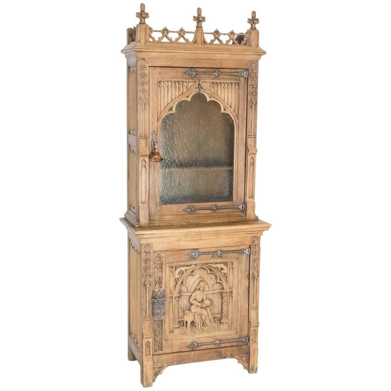 19th century gothic cabinet for sale at 1stdibs for 19th century kitchen cabinets