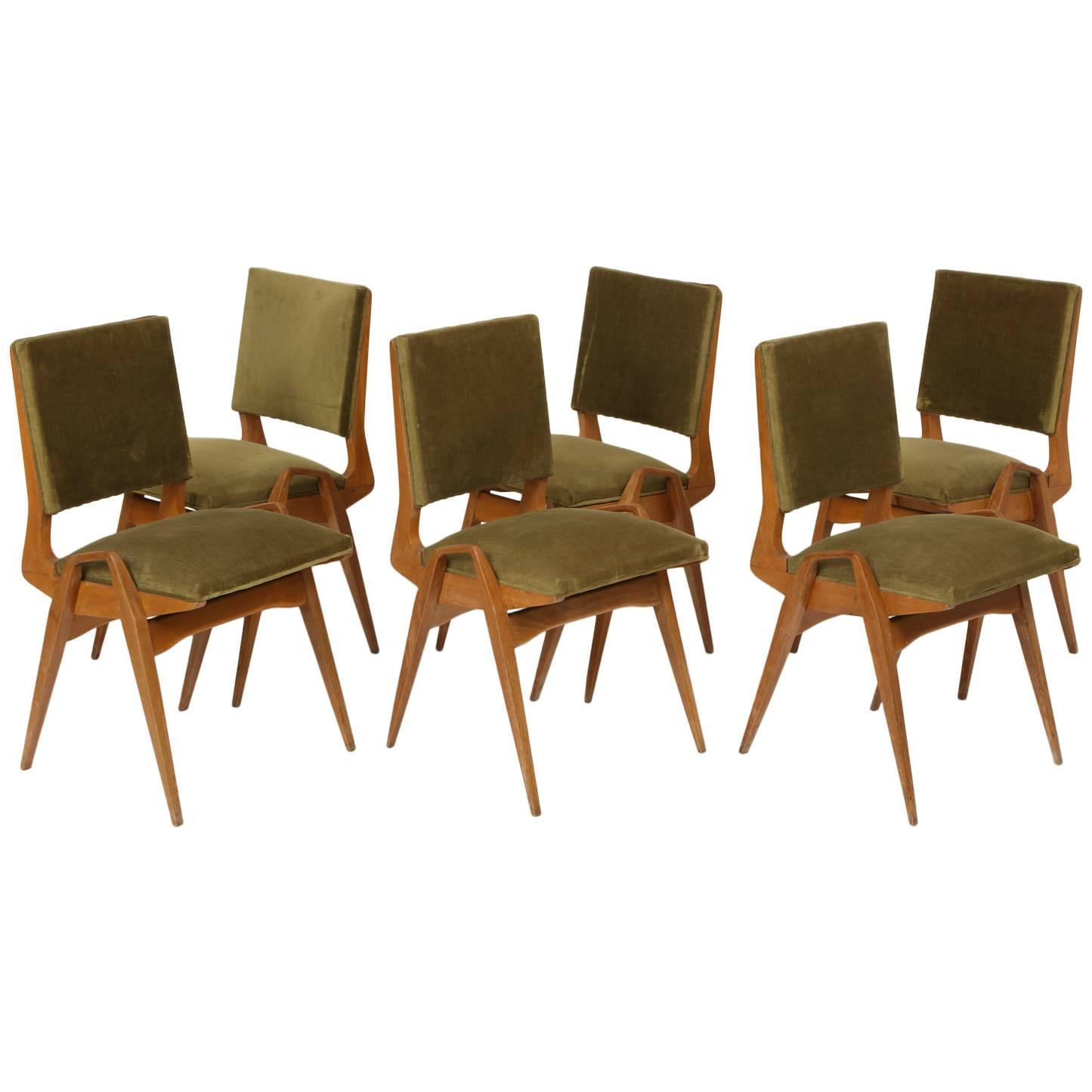 French Mid Century Dining Chairs 1950s Maurice Pre Architectural
