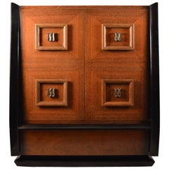 Stylish Mahogany Chifferobe, Chest, Dresser after Mont