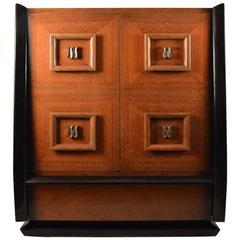 Stylish Mahogany Chifferobe, Chest, Dresser after Mont