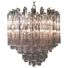 Italian Hand-Cut Crystal Chandelier by Camer Glass