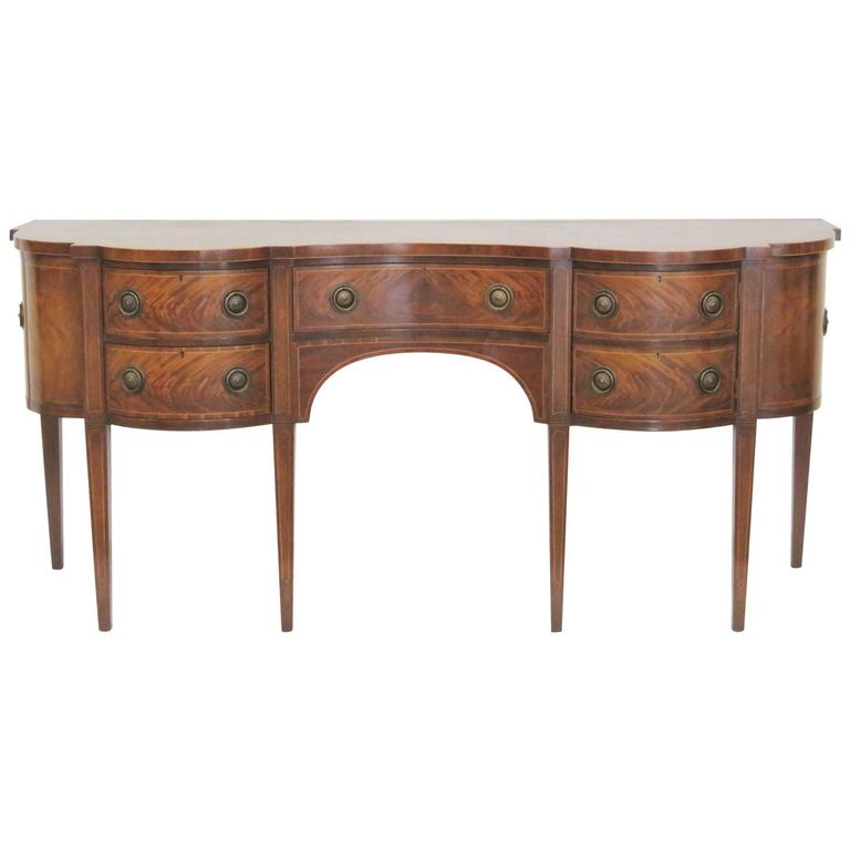 Baker Federal Style Mahogany Inlaid Sideboard For Sale At 1stdibs