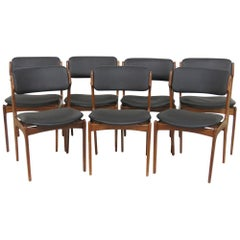 Seven Danish Modern Rosewood Dining Chairs