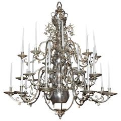Palatial 18th Century Twenty-Four-Light Flemish Georgian Chandelier