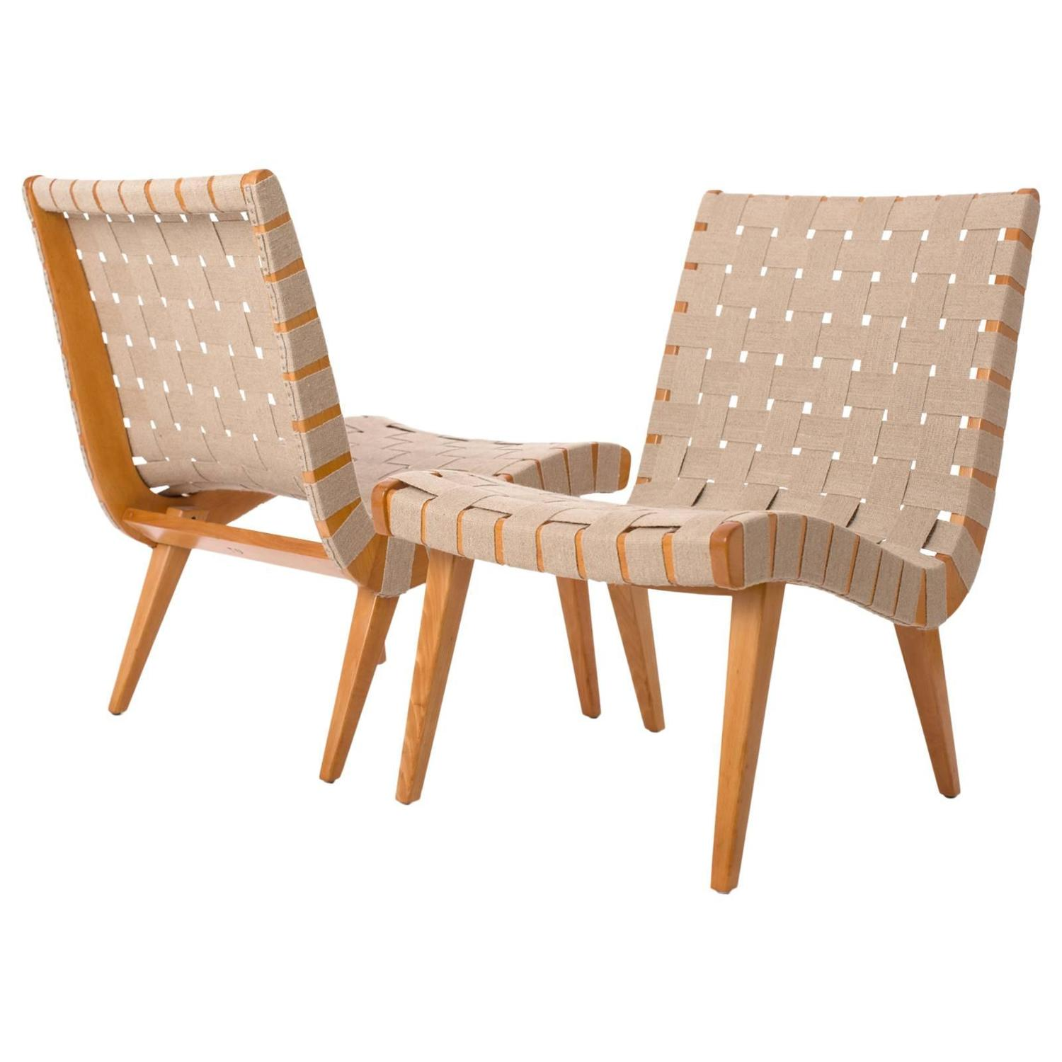 Bon Czech Lounge Chairs By Jens Risom For Knoll, 1960s, Set Of Two At 1stdibs