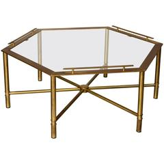 Bronze Hex Coffee Table by Mastercraft