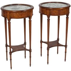 Pair of Louis XVI Style Cherry End Tables