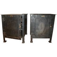 Heavy Steel Industrial Cabinets, circa 1900