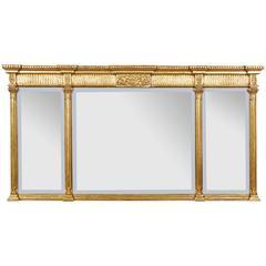Regency Style Giltwood Overmantel Mirror