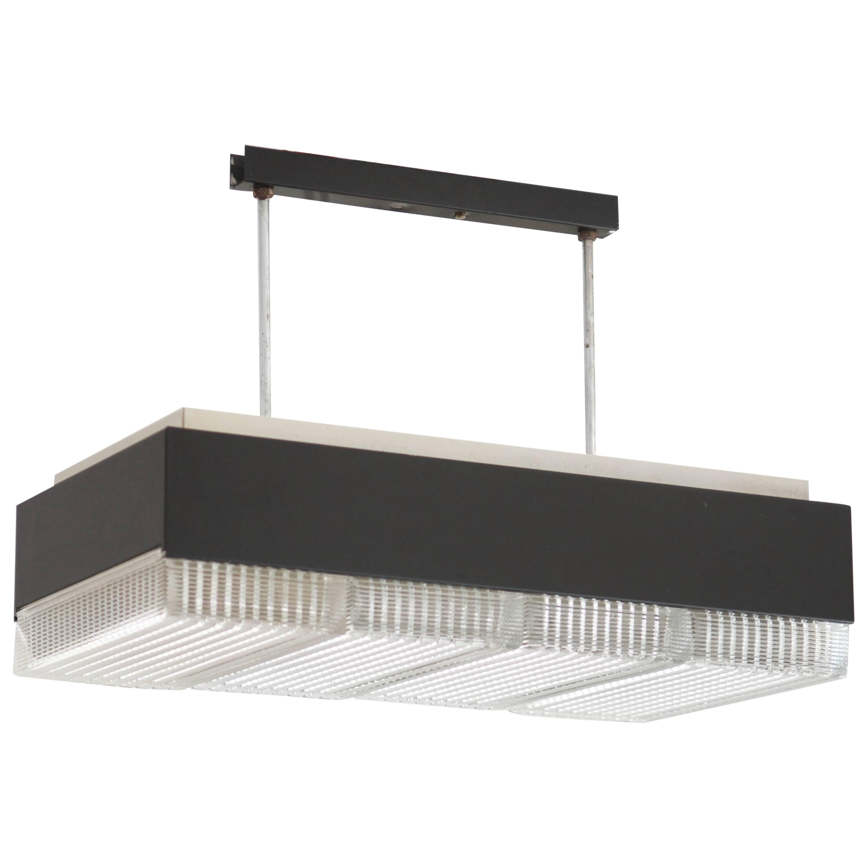 fixture of set black panes lamp iron a exclusive clear rectangle frame our light pin crafted in glass lighting pendant