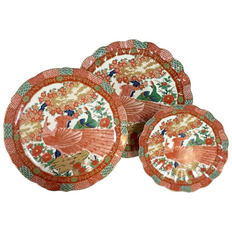 Japanese \ Imari Peacock\  by Arita Plates Set of Ten ...  sc 1 st  1stDibs & Japanese \
