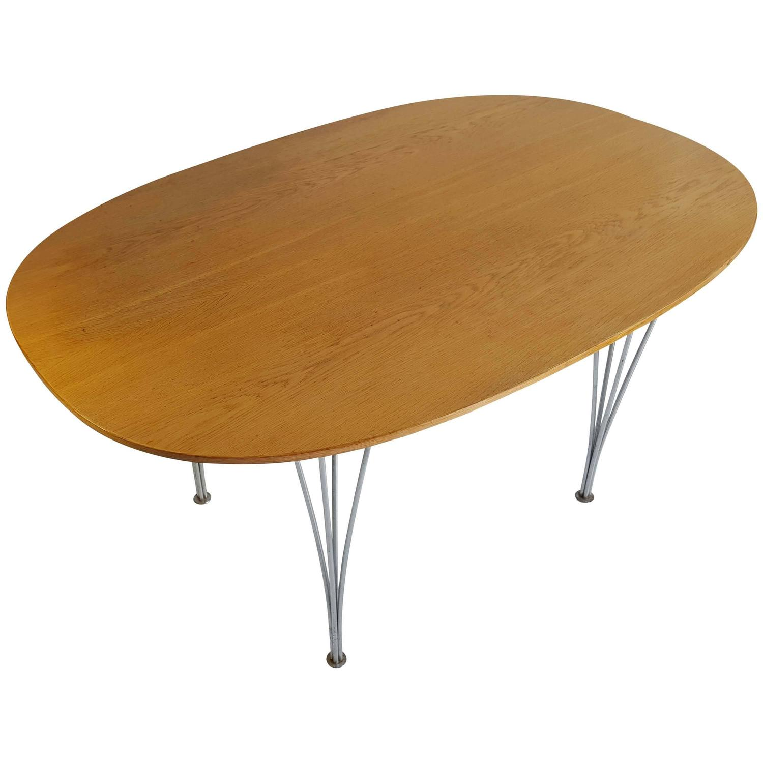 Super Ellipse Dining Table by Piet Hein and Bruno Mathsson For