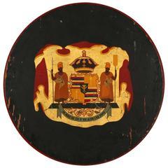 Hawaii Royal Crest Plaque, All Original Rare Collectible, circa 1890s-1920s