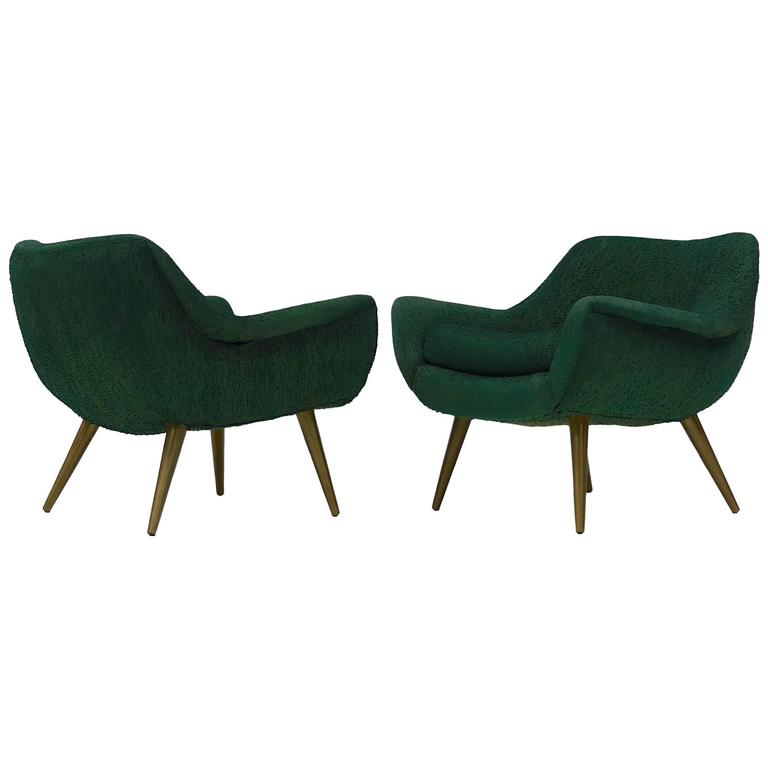 Pair of Sculptural Lounge Chairs by Lawrence Peabody for Selig
