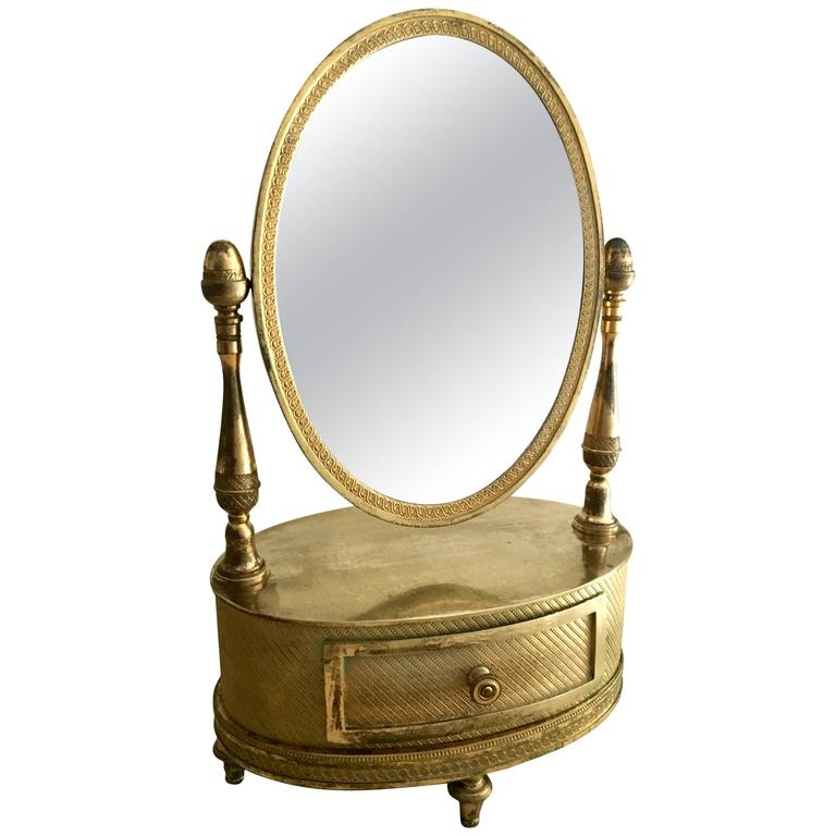 Beautiful French, First Empire Gilt Bronze Mirror, circa 1810-1820 For Sale