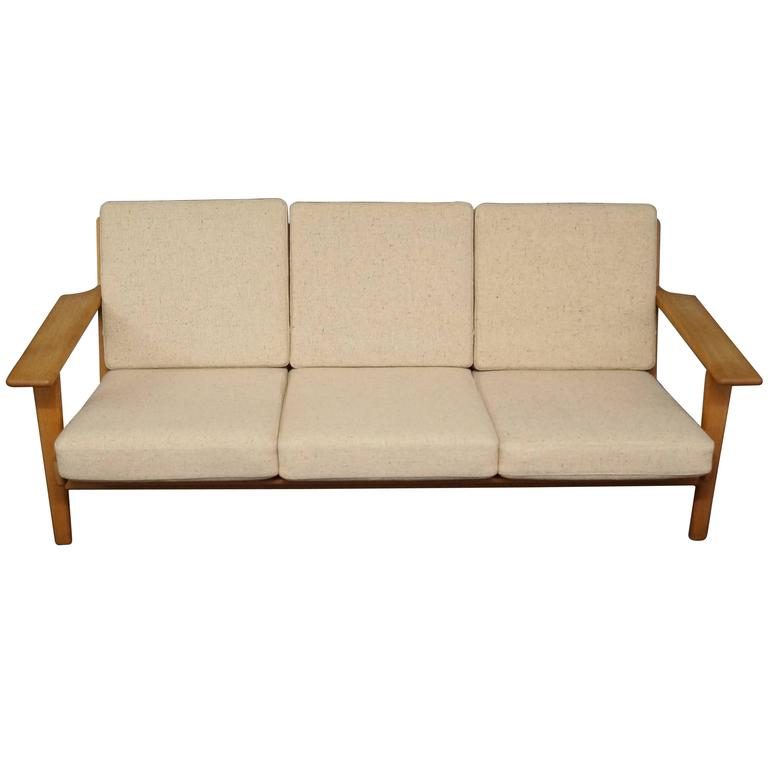 GE 290 Three Persons Sofa Designed by Hans J. Wegner