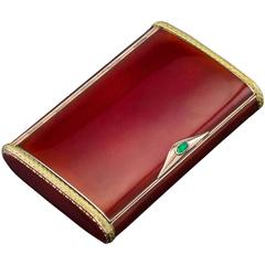 Antique 20th Century Russian Faberge Silver and Guilloche Enamel Cigarette Case