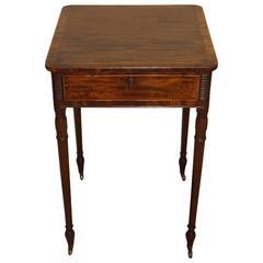 Superb George III Mahogany Work Table