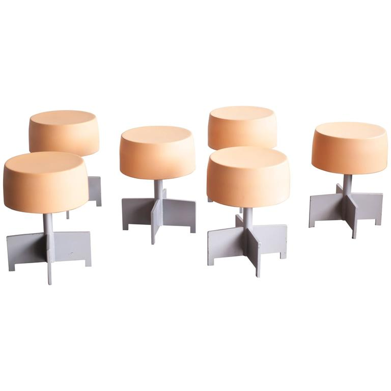 Set Of Six Dutch Design Architectural Stools At 1stdibs