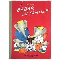 """Babar en Famille - Jean De Brunhoff"" Book - 1938"