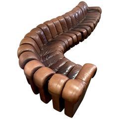 De Sede DS600 Non Stop Modular Sofa in Brown Leather