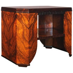 1925-Art Deco Center Table Attributed to Gaston Poisson, mahogany, walnut-France