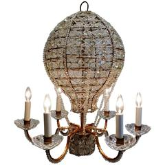 Mid-Century Italian Chandelier in the Form of a Hot Air Balloon