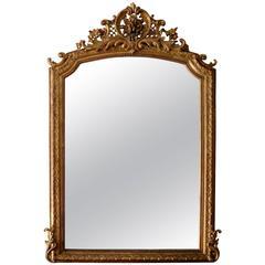 Large Rococo Revival Overmantel Mirror