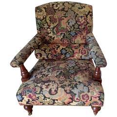 Handsome Kilim George Smith Armchair