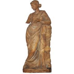 Rare Terra-Cotta Female Figure