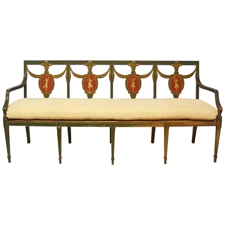 Federal Style Settee by A.H. Davenport Company For Sale