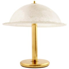 Large Table Lamp, Brass and Glass, Peill & Putzler or Hillebrand, Germany, 1970