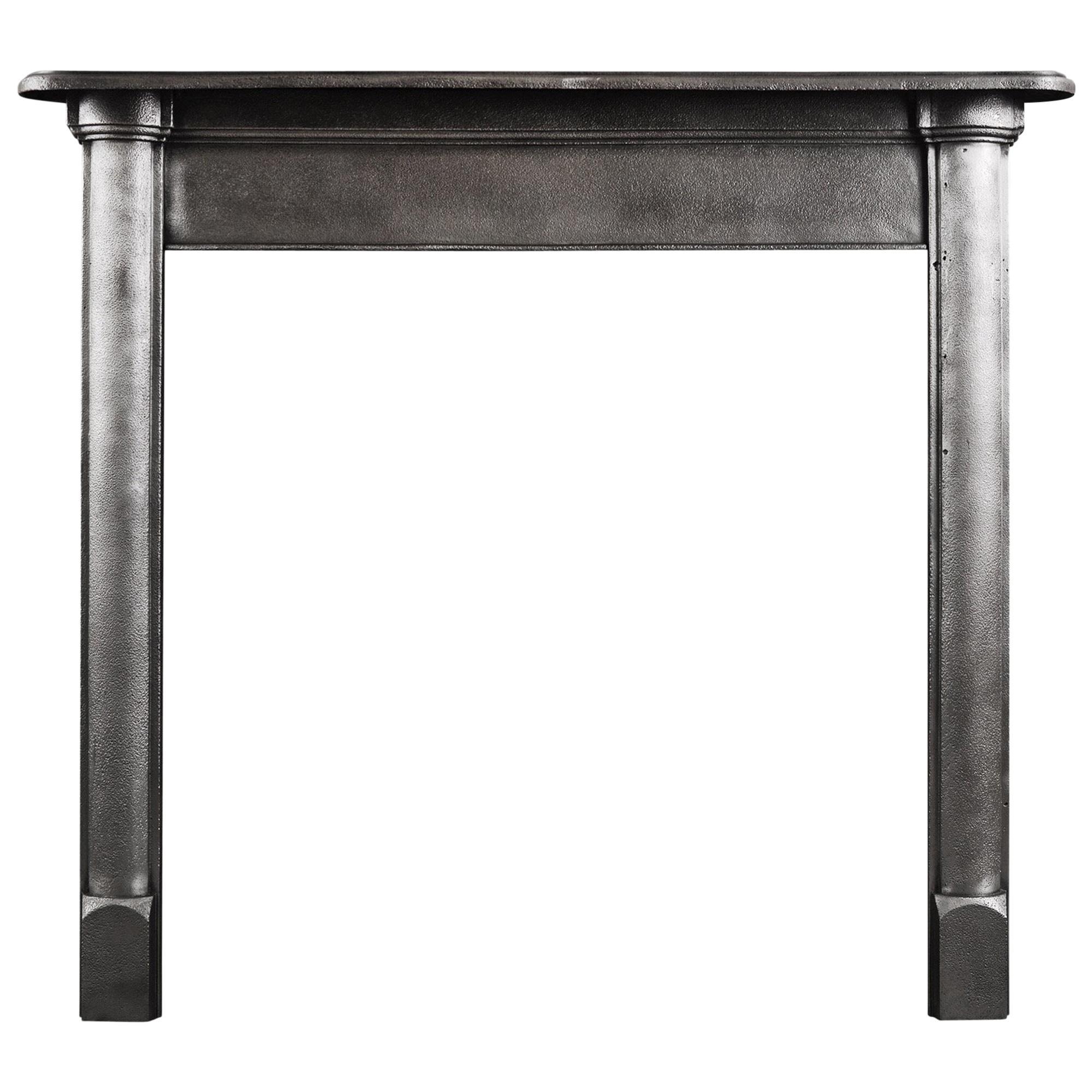 Simple Polished Cast Iron Fireplace