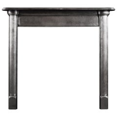 Simple Polished Cast Iron Fireplace