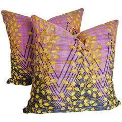 Custom Pair of Kantha Finely Stitched  Pillows, India