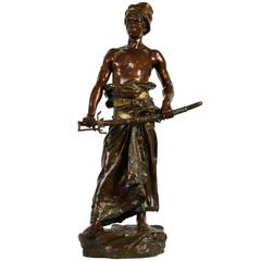 Young Arab with His Sword, Bronze Statue by Clement L. Steiner