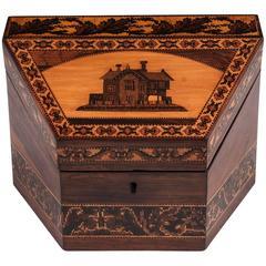 Tunbridge Ware Stationery Box