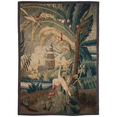 18th Century Aubusson Tapestry Fragment after a Cartoon by Pillement