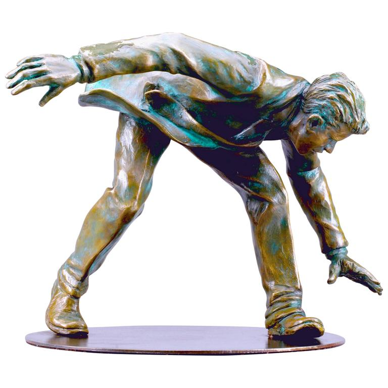 Riding Giants, a Bronze Sculpture by Jim Rennert