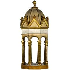 Unique 19th Century Italian Giltwood Octagonal Domed Pavilion Model