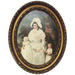 18th Century Naive Portrait on Tin