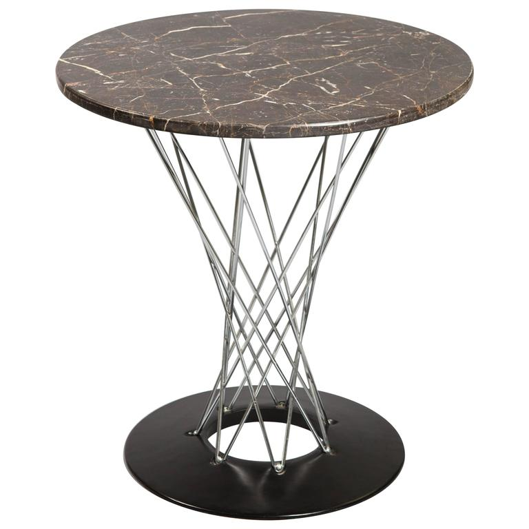 Isamu Noguchi Cyclone Table with Custom Black Marble Top 1
