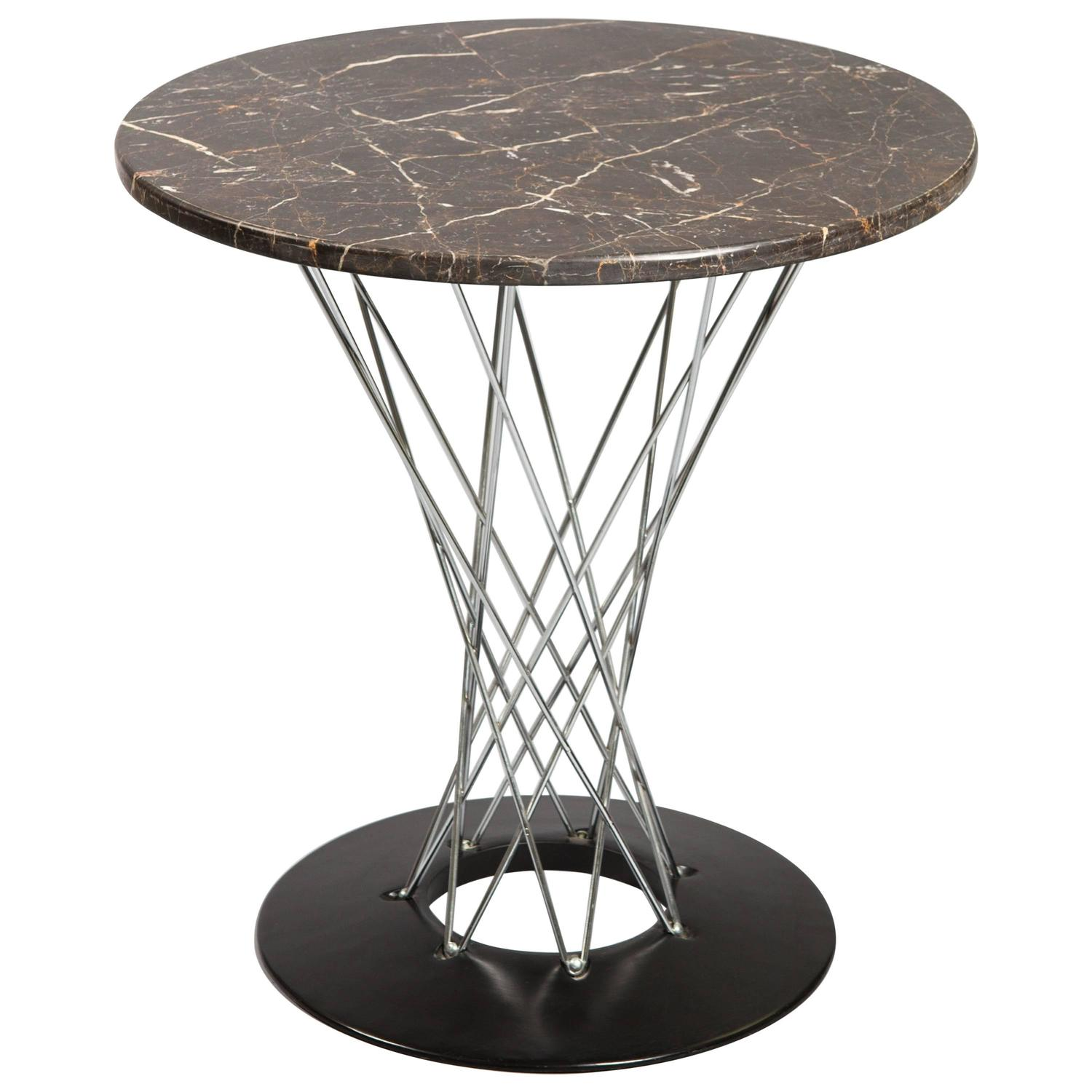 Isamu Noguchi Cyclone Table with Custom Black Marble Top For Sale