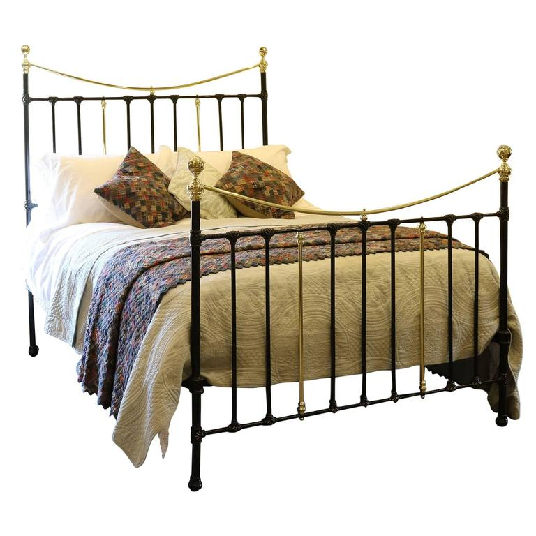 brass and iron bed in black at 1stdibs